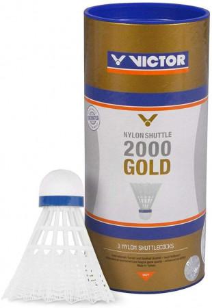 VICTOR Nylon Shuttle 2000 gold 3er Pack