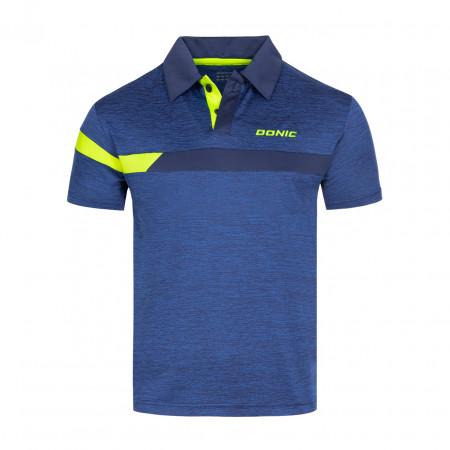 DONIC Poloshirt Stripes Blau Vorderseite