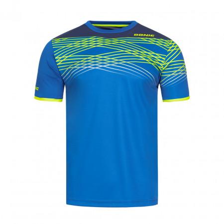 DONIC T-Shirt Clix Blau Vorderseite