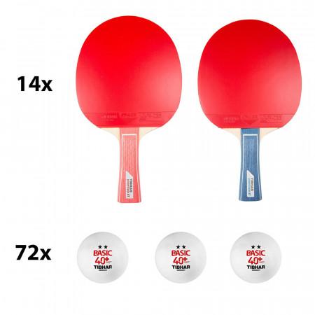TIBHAR PREMIUM 14er Tischtennis-Schulsport Set Powerblade