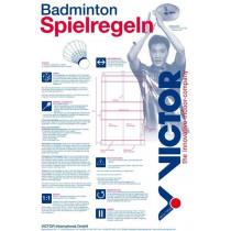 Victor Regelposter Badminton