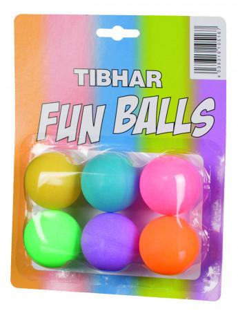 TIBHAR Fun Balls bunt 6er Pack
