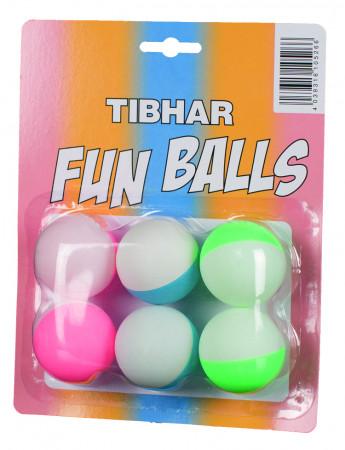 TIBHAR Fun Balls zweifarbig 6er Pack