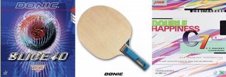 Donic Defplay Senso + Slice 40 CD + DHS C7 Langnoppe