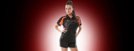Tibhar Damentrikot Grip Lady - schwarz/orange