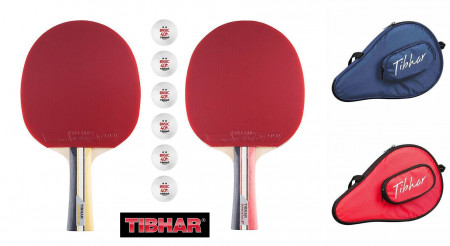 TIBHAR Tischtennis-Set POWERCARBON XT