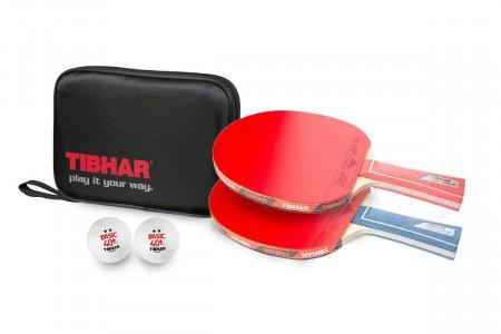 Tibhar Tischtennis-Set POWERBLADE+Hülle+Bälle