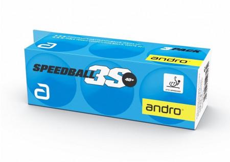 Andro 3-Sternball *** Speedball 3S 40+ cellfree weiss  3er Pack