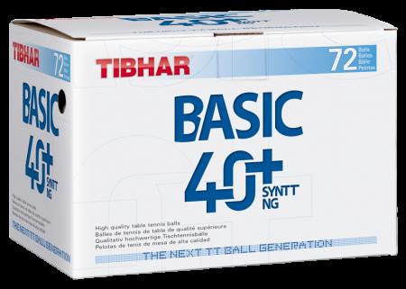 Tibhar Basic 40+ Syntt NG 72er-Pack weiß