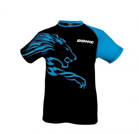 DONIC T-SHIRT LION schwarz/cyan