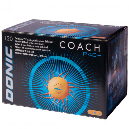 DONIC Coach P40+ Cell-Free **-Star orange 120er Packung Tischtennisbälle