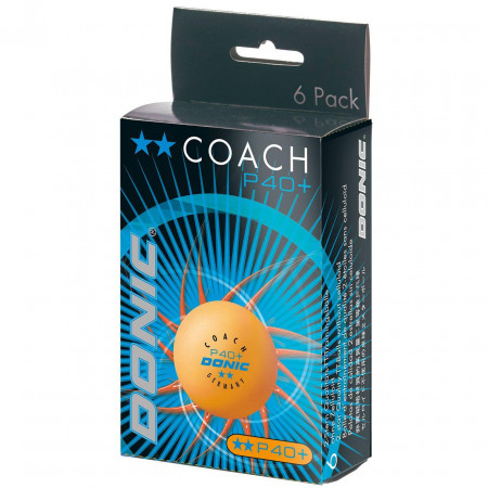 DONIC Coach P40+ Cell-Free **-Star orange 6er Packung