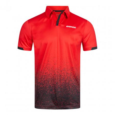 DONIC Poloshirt Splashflex Rot Vorderseite