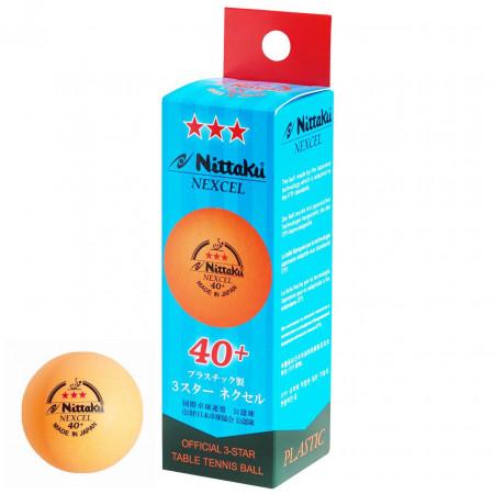 Nittaku Nexcell *** 40 + CELL FREE orange 3er Pack