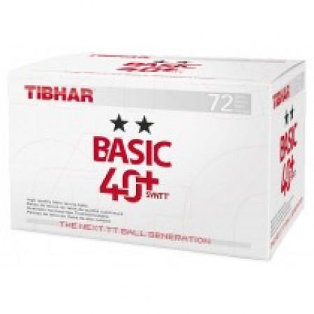 Tibhar Basic 40+ 2-Stern 72er Pack