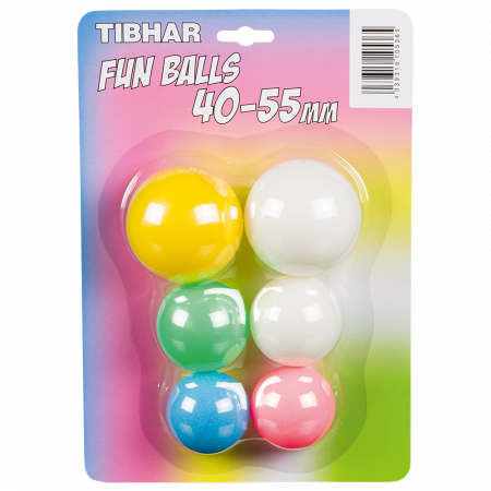TIBHAR Fun Balls 40 - 55 mm 6er Pack