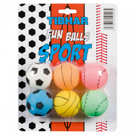 TIBHAR Fun Balls Sports 6er Pack